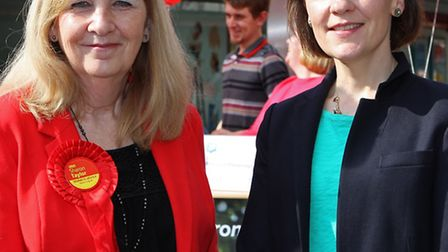 Leader of Stevenage council and labour candidate cllr Sharon Taylor and her team were joined by Ed M
