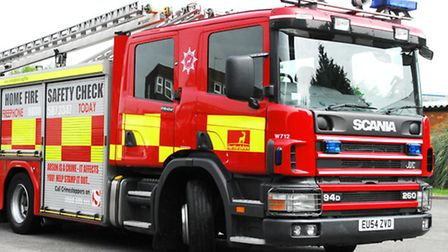 Firefighters were called to Widdington on Saturday evening, after a 300 tonne pile of rubbish was ab