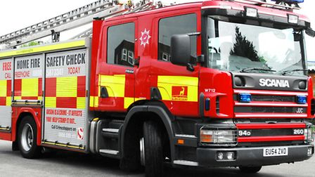 Fire crews were called to Pirton Road after a haystack caught fire.