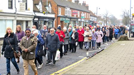 Stevenage Walk of Witness 2015, picture by Margaret Ashby