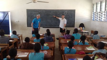 While in Gambia they taught several science and sports lessons.