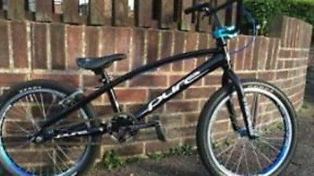 The bike was stolen from the boot of a car.