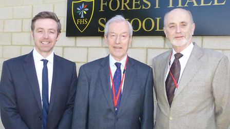 From left to right Stephen Hehir, MP Sir Alan Haselhurst and Councillor Ray Gooding.