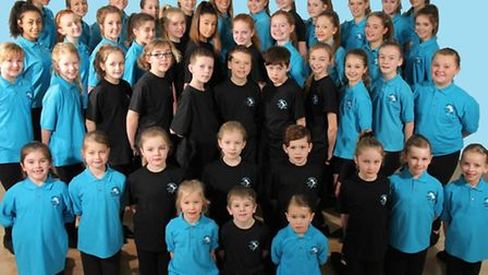 The Stephanie Prior School of Dance troupe before their performance at the Royal Albert Hall.