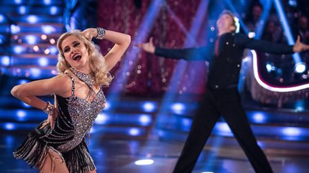 Pixie Lott and Trent Whiddon performing on the BBC's Strictly Come Dancing. [Picture: BBC / Guy Levy