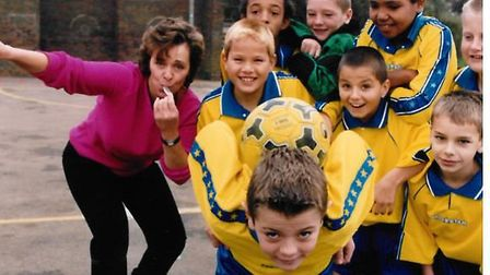 Jack Wilshere shows his balls skills when playing for Whitehill Junior School Hitchin U9s
