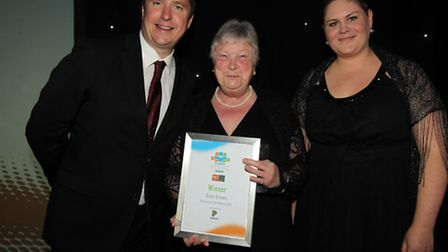 Anne Brown with her Service to the Community award