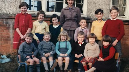 Margaret Wiggs at Odsey Village School in the mid to late 1950s.