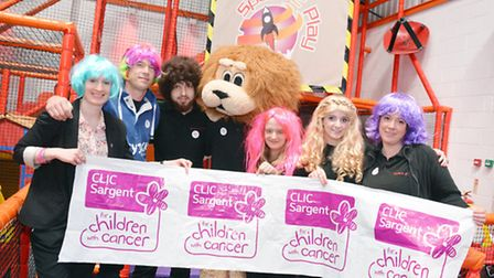 Catherine Cadman from CLIC Sargent and Space2Play owner Jason Flynn backing the cause alongside the