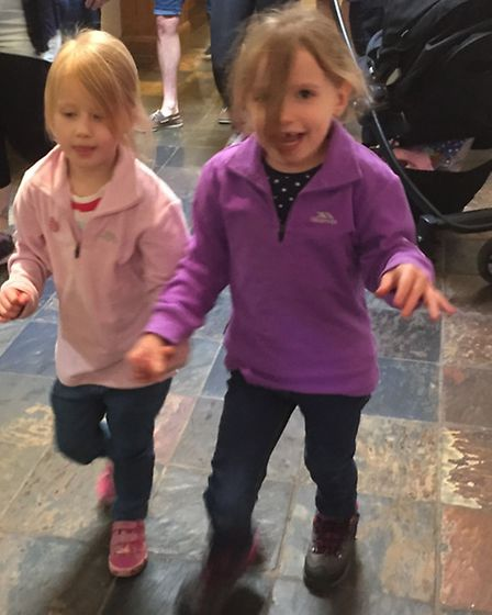 Jen Clare, pictured on the right walking with her sister Izabelle, has decided to do a sponsored wal
