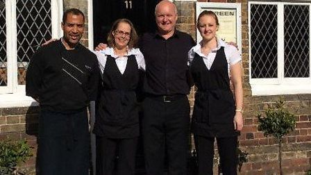 Left to right: Portuguese chef Antonio Gomez, owners Marie-Claire and Paul Clinton and co-owner Stac