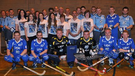 Letchworth Roller Hockey Club and Stevenage Sharks with Stuart Langley's family reunite for a game i