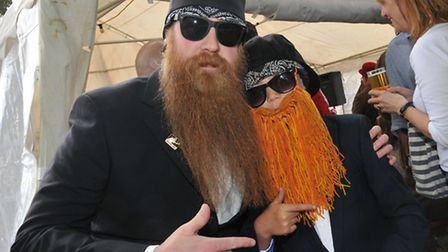 Andy and Rubin Teague, 9 travelled from Chard in Somerset for Hitchin's first Beard competition