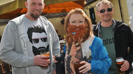 Brian and Laura Garner and Alan Garner travelled from Leicester for Hitchin's first Beard competitio