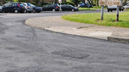 The new raod surface which has drawn complaints from residents of The Oundle