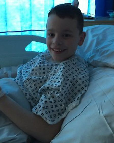 Jack Gower, pictured in hospital, has been given a £2,500 donation ahead of life-changing surgery in