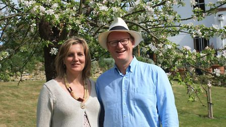 Stephen and Ruth Ten Hove in their wonderful family garden, one of a a number open to the many visit