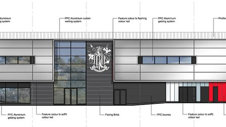 Plans for the new North Stand at Stevenage FC's Lamex Stadium, May 2015