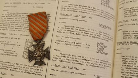 A medal Andrew Evan's grandfather Adolph Lempert received for his service in the RAF. Picture: Andre