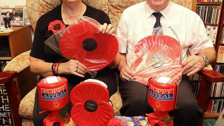 Stevenage poppy appeal organisers Pat and Richard Mott are Charity Champions finalists.
