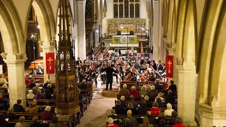 Hitchin Symphony Orchestra in performance at St Mary's Church. Picture by Andrew Hyde