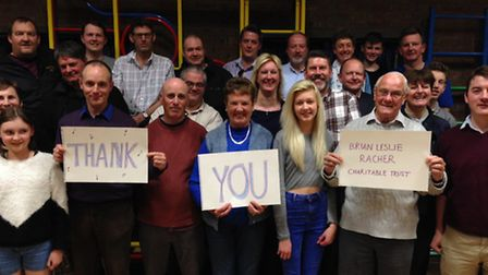 Royston Town Band saying a big thank you to the support they have received to build a band room.