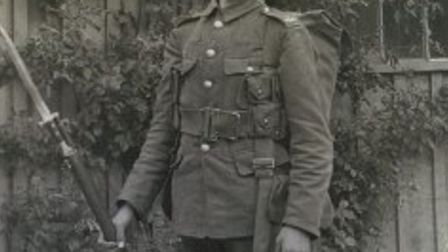 Private Walters Flanders who was killed fighting for the 1st Batallion of the Hertfordshire Regiment