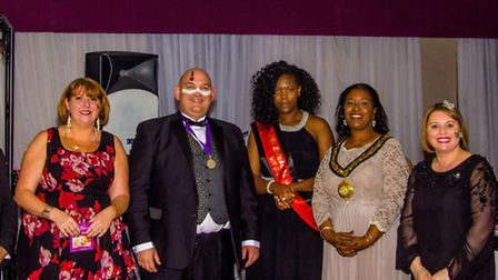 Stevenage's mayor Sherma Batson attended the evening which raised more than 1,500 for charity. Credi