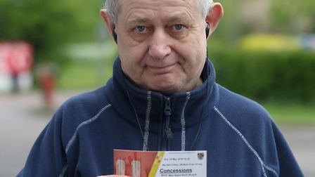 Lester Cook with his ticket