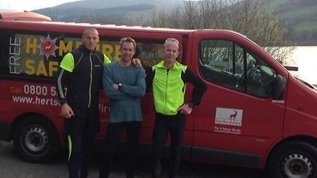 James Bull, Lee Crake and Billy McGill who completed the gruelling fundraiser.