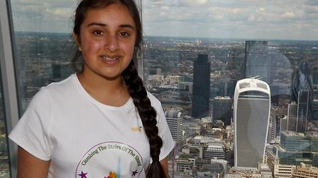 Roshni Dholakia at the top of The Shard