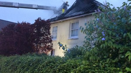 Fire at Great Chishill home. Picture: Cambs Fire Service.