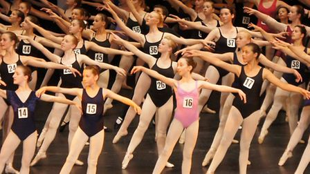 English Youth Ballet audition. Picture by Ben Garner
