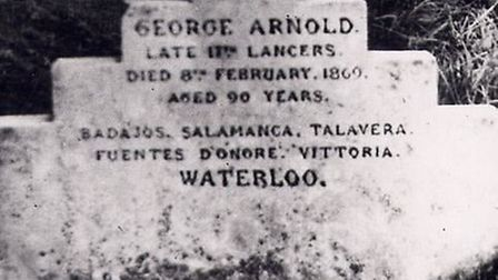 Trooper George Arnold's headstone, which is being replaced after becoming old and worn.