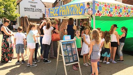 Facepainting at the Baldock Big Lunch 2015. Picture: Stephen Drayton Photography.