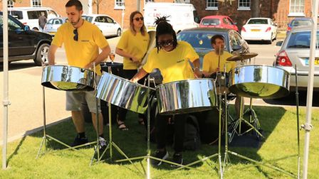 PaNation Steel Band providing the soundtrack to the Baldock Big Lunch. Picture: Stephen Drayton Phot
