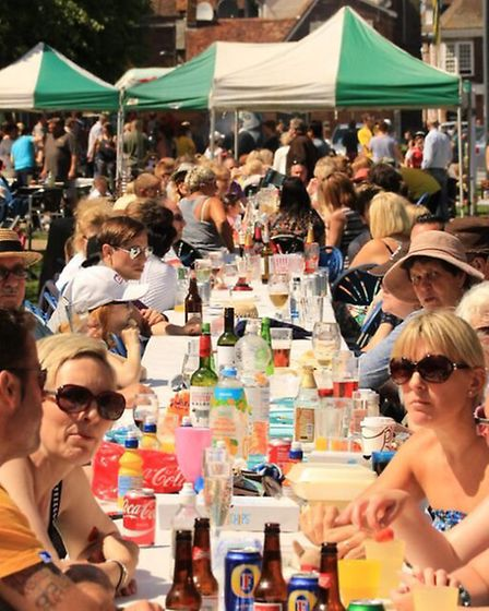 Members of the public enjoying the Baldock Big Lunch 2015. Picture: Stephen Drayton Photography.
