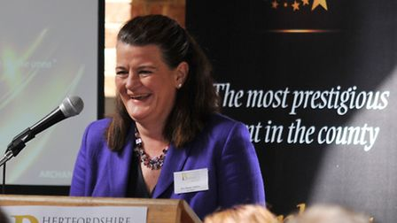 Archant Herts and Cambs sales director Kim Black-Totham speaking at the launch.