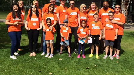 16 strong team from Towergate Insurance Stevenage and their families took part in a 5k walk along th