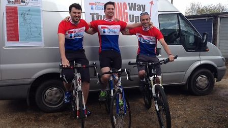 (Left to right) Dan, Craig and Nik three weeks before they are due to set off
