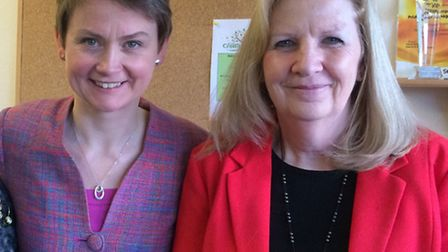 MP Yvette Cooper and Councillor Sharon Taylor.