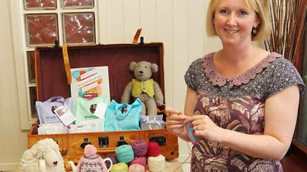 Helen Ingram of Woolly Chic at her Crochet and Cake meeting in Hitchin