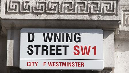 Blood donation appeal to Downing Street - missing the O which is the most common blood type