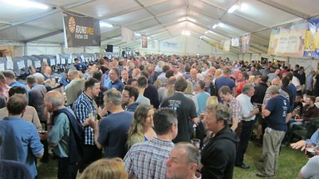 The Hitchin Beer and Cider Festival 2015 in full flow.
