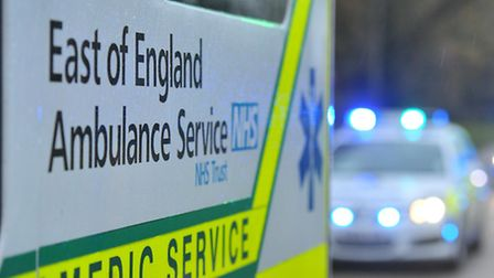 A man was taken to hospital after collapsing in Hitchin this afternoon.