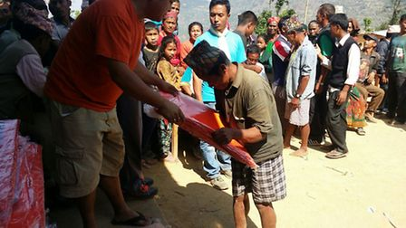 First aid arrives in Nepal