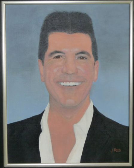 Jean Samtula's portrait of Simon Cowell is being exhibited at the Royal Academy over the summer.