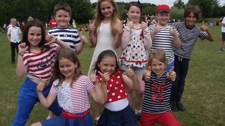 Students from St Thomas More School and Garden City Academy enjoying their joing French day.