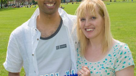 Raj Sahota proposed to his fiance Rachel Pipe after a game of hangman.