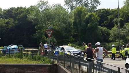 A young girl has been flown to hospital following a collison involving a police car. Credit: James B